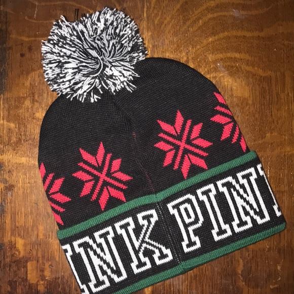 b648fad02ec30 Victoria s Secret PINK knit beanie hat NWT